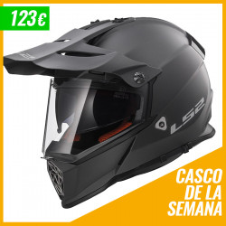 Casco cross/enduro LS2 Helmets MX436 PIONEER SOLID Matt Tittanium