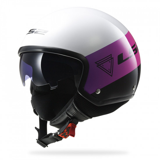 SUPEROFERTA: Casco jet LS2 Helmets OF561 WAVE BEAT Fluo Pink