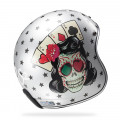 SUPEROFERTA Casco jet LS2 Helmets OF583 BOBBER TATTOO Silver