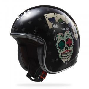 SUPEROFERTA: Casco jet LS2 Helmets OF583 BOBBER TATTOO Black