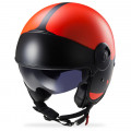 SUPEROFERTA: Casco jet LS2 Helmets OF597 Cabrio VIA Matt Orange Black