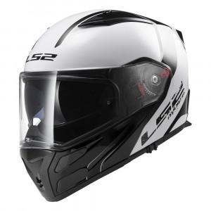 Casco convertible LS2 Helmets FF324 METRO Rapid White-Black