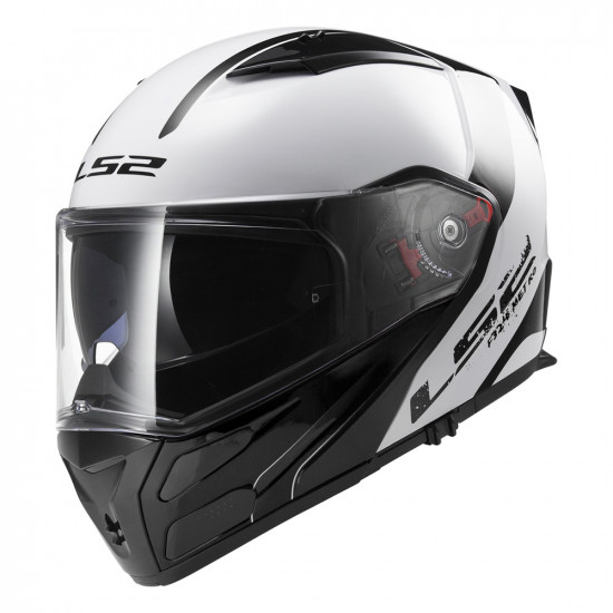 SUPEROFERTA: Casco convertible LS2 Helmets FF324 METRO Rapid White-Black