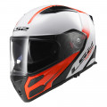 SUPEROFERTA: Casco convertible LS2 Helmets FF324 METRO Rapid White-Red