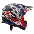 Casco INFANTIL LS2 Helmets MX437J FAST MINI STRONG White Red Blue