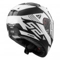 Casco integral LS2 Helmets FF323 ARROW R EVO NEON Matt Black Gloss White > REGALO: Pantalla ahumada