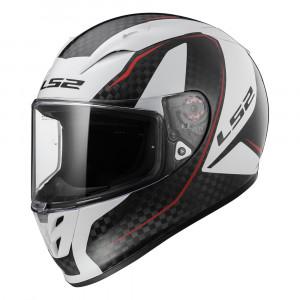 Casco integral fibra de carbono LS2 Helmets FF323 ARROW C EVO FURY Carbon White > Regalo: Pantalla ahumada