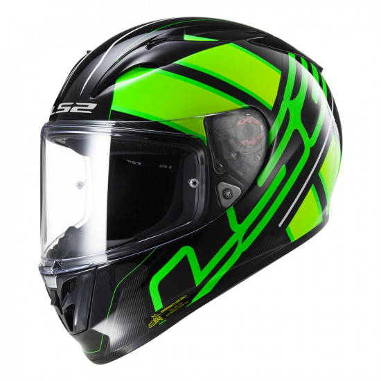 SUPEROFERTA: Casco integral LS2 Helmets FF323 ARROW R EVO ION Black Fluo Green > REGALO: Pantalla ahumada