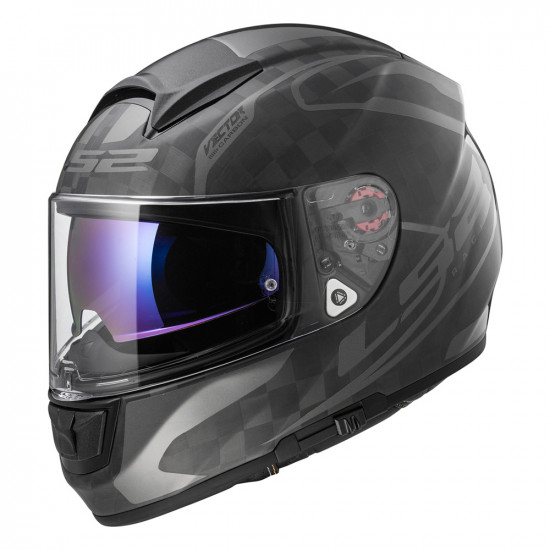 SUPEROFERTA: Casco integral LS2 Helmets FF397 VECTOR C CLASS Matt Gloss Carbon