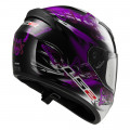 Casco integral LS2 Helmets FF352 ROOKIE FLUTTER Black-Purple