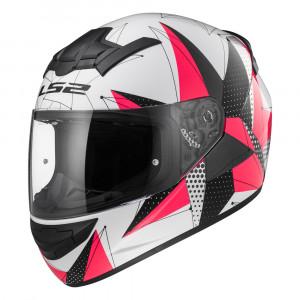 Casco integral LS2 Helmets FF352 ROOKIE BRILLIANT White Pink