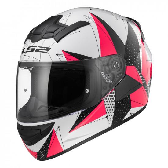 SUPEROFERTA: Casco integral LS2 Helmets FF352 ROOKIE BRILLIANT White Pink