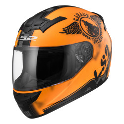 Casco integral LS2 Helmets FF352 ROOKIE FAN Matt Orange
