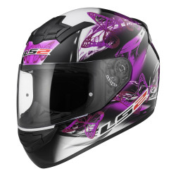 Casco integral LS2 Helmets FF352 ROOKIE FLUTTER Black-Purple