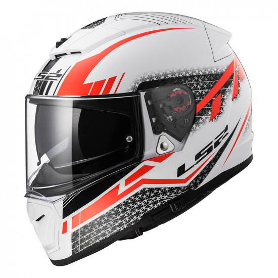 Casco integral LS2 FF390 Breaker Split White Red