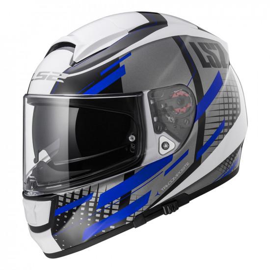 SUPEROFERTA: Casco integral LS2 Helmets FF397 VECTOR TITAN White Titanium Blue