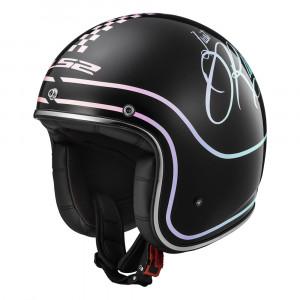 Casco jet LS2 Helmets OF583 BOBBER RUSTY Black