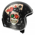 SUPEROFERTA: Casco jet LS2 Helmets OF583 BOBBER TATTOO Black