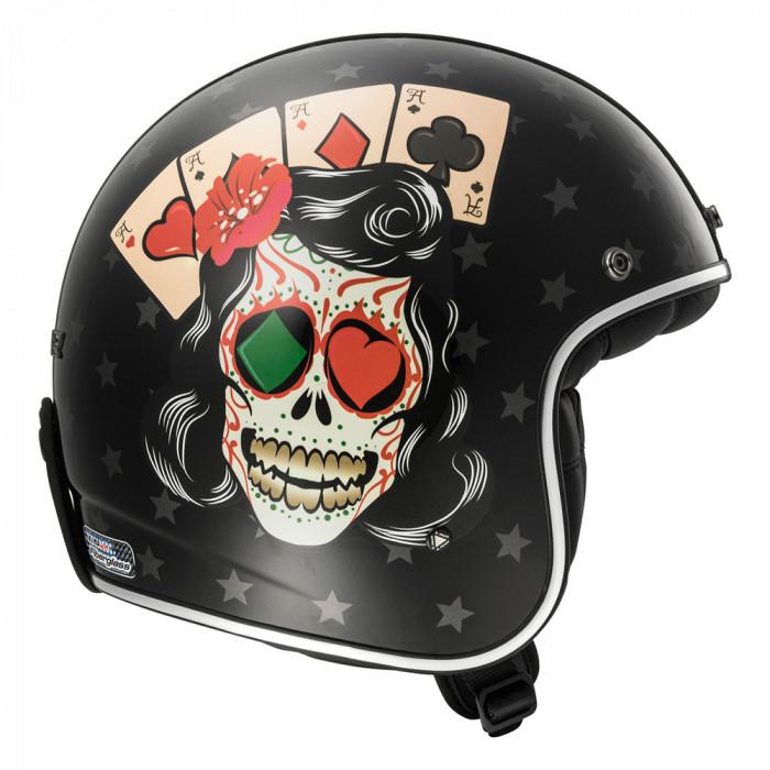 casco jet ls2 helmets of583 bobber tattoo black. Black Bedroom Furniture Sets. Home Design Ideas