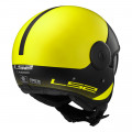SUPEROFERTA: Casco jet LS2 Helmets OF597 Cabrio VIA Matt Hi-Vis Yellow Black