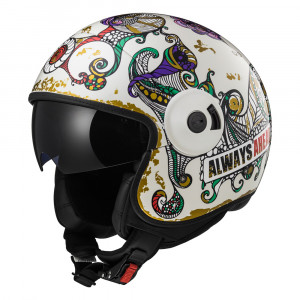 SUPEROFERTA: Casco jet LS2 Helmets OF597 CABRIO FLAUNT White