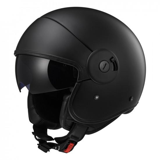 SUPEROFERTA: Casco jet LS2 Helmets CABRIO OF597 Full Matt Black