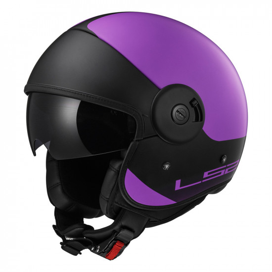 SUPEROFERTA: Casco jet LS2 Helmets OF597 Cabrio VIA Matt Purple Black