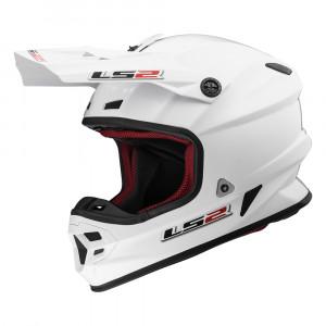 Casco cross/enduro LS2 Helmets MX456 LIGHT EVO SOLID White