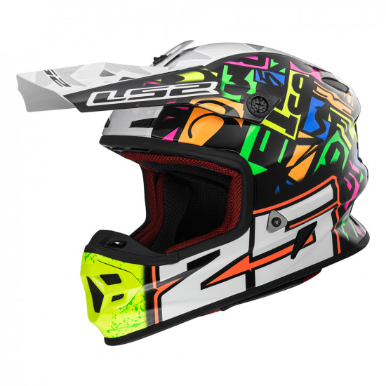 SUPEROFERTA: Casco cross/enduro LS2 Helmets MX456 LIGHT EVO PUNCH White Black