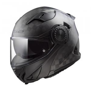 Casco convertible LS2 Helmets FF313 VORTEX SOLID Matt Carbon