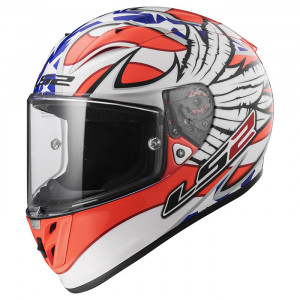 Casco integral LS2 Helmets FF323 ARROW R EVO FREEDOM White Orange Blue > REGALO: Pantalla ahumada