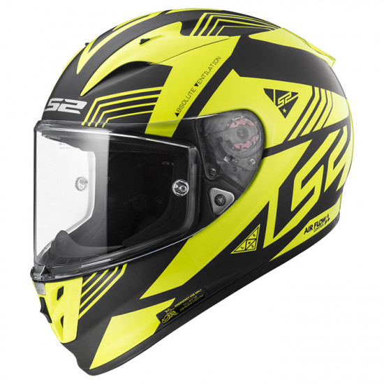 SUPEROFERTA: Casco integral LS2 Helmets FF323 ARROW R EVO NEON Matt Black Gloss H-V Yellow > REGALO: Pantalla ahumada
