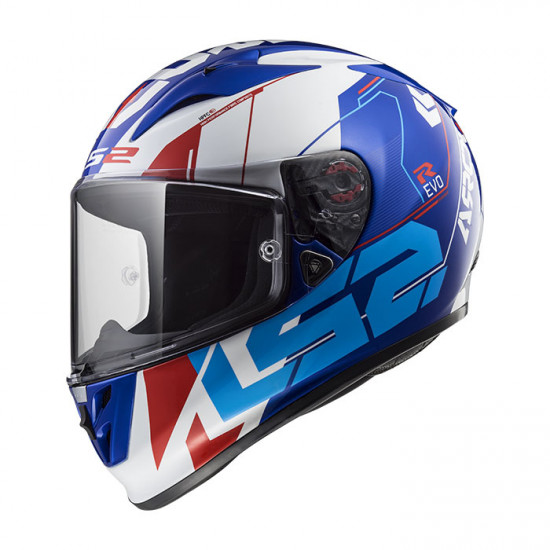 SUPEROFERTA: Casco integral LS2 Helmets FF323 ARROW R EVO TECHNO White Blue > REGALO: Pantalla ahumada