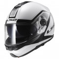 Casco convertible LS2 Helmets FF325 STROBE CIVIK White Black