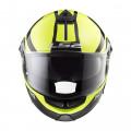 Casco convertible LS2 Helmets FF325 STROBE ZONE Black H-V Yellow