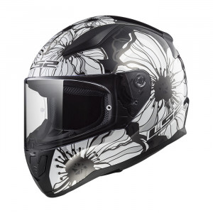 Casco integral LS2 Helmets FF353 RAPID Poppies Black White