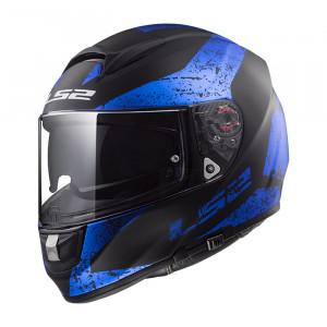 Casco integral LS2 Helmets FF397 VECTOR HPFC EVO SIGN Matt Black Blue