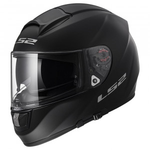 Casco integral LS2 Helmets FF397 VECTOR HPFC EVO Solid Matt Black + Impermeable de regalo