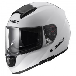 Casco integral LS2 Helmets FF397 VECTOR HPFC EVO Solid White + Impermeable de regalo