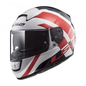 SUPEROFERTA: Casco integral LS2 Helmets FF397 VECTOR HPFC EVO TRIDENT White Red