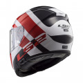 SUPEROFERTA: Casco integral LS2 Helmets FF397 VECTOR HPFC EVO TRIDENT White Red
