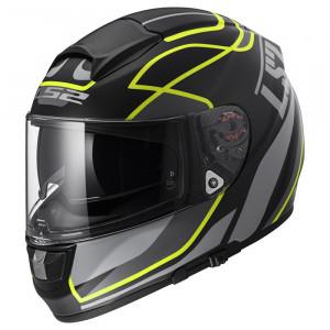 Casco integral LS2 Helmets FF397 VECTOR HPFC EVO Vantage Matt Black Hi-Vis Yellow