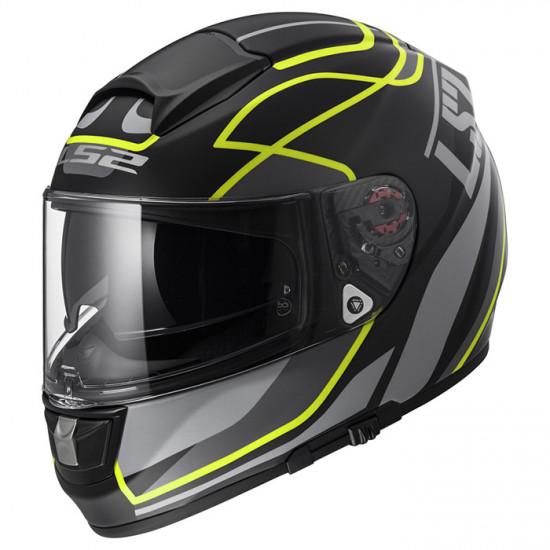 SUPÈROFERTA: Casco integral LS2 Helmets FF397 VECTOR HPFC EVO Vantage Matt Black Hi-Vis Yellow