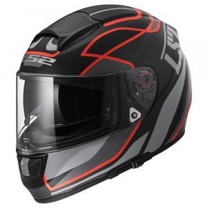 Casco integral LS2 Helmets FF397 VECTOR HPFC EVO Vantage Matt Black-Fluo Red