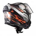 Casco convertible LS2 Helmets FF399 VALIANT ROBOTO Black Orange Chrome + Bolsa portacasco ACERBIS de regalo