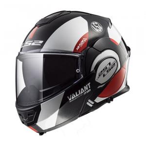 Casco convertible LS2 Helmets FF399 VALIANT AVANT White Black Red