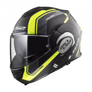 Casco convertible LS2 Helmets FF399 VALIANT LINE Matt Black H-V Yellow