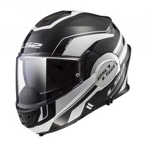 Casco convertible LS2 Helmets FF399 VALIANT LUMEN Matt / Gloss Black Light