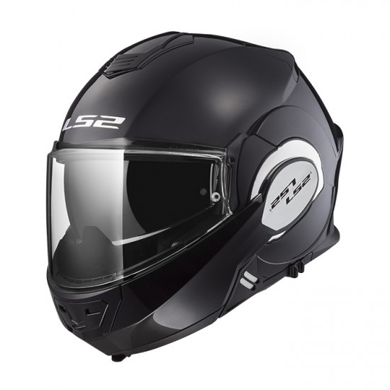 Casco convertible LS2 Helmets FF399 VALIANT SOLID Black