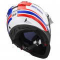 SUPEROFERTA: Casco cross/enduro LS2 Helmets MX436 PIONEER QUARTERBACK White Red Blue